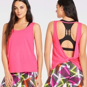 FABLETICS Femina Twist Back Tank Top Pink Medium